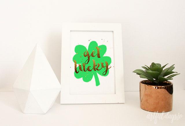 Get lucky printable