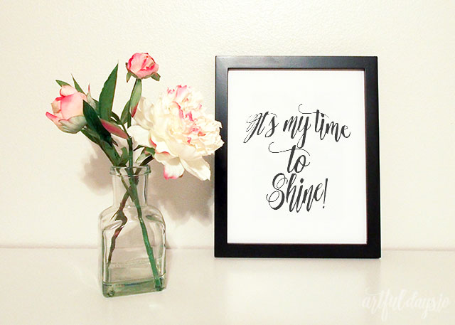 Time to shine lyric print