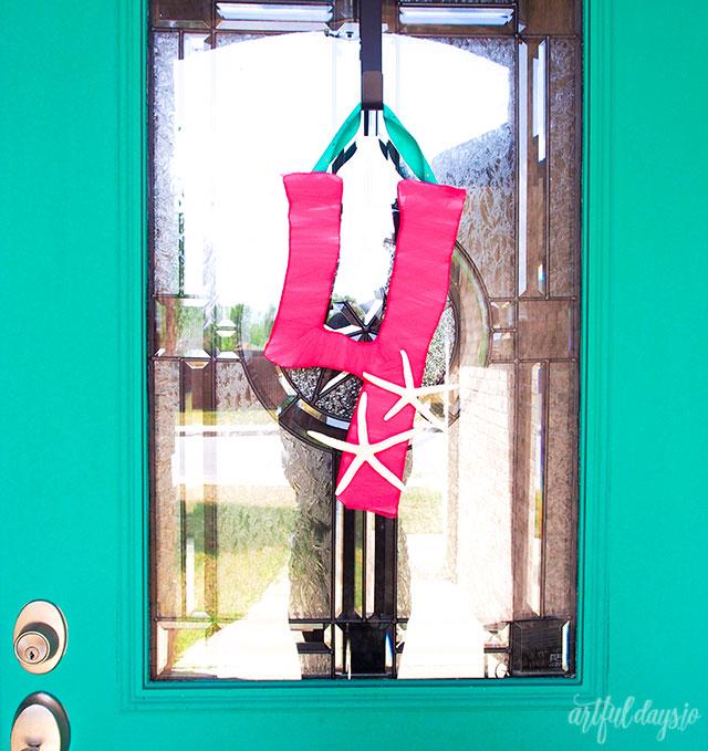 Birthday decor door hanger