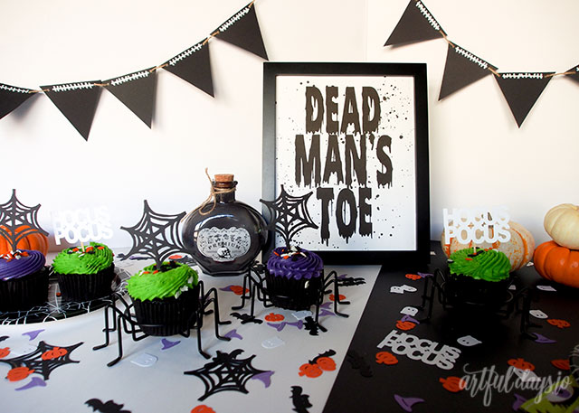 Diy cricut halloween party decor ideas