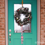 Christmas candy welcome wreath
