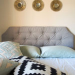 Diy tufted fabric queen headboard