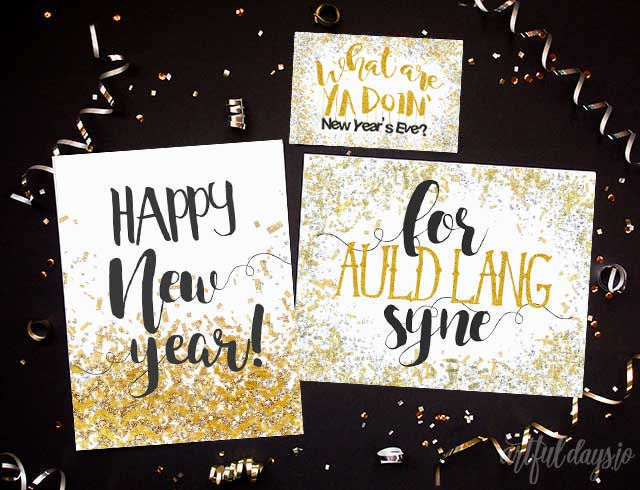 Free new years eve prints