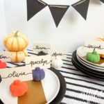 Fall craft place card holders