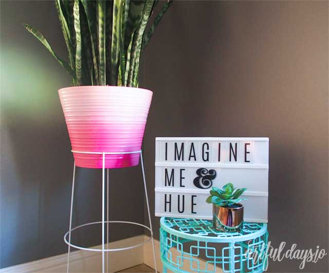 Ombre planter and stand
