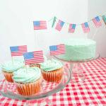 Us flag dessert toppers