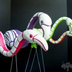 Artfuldays rainbow skeleton flamingos