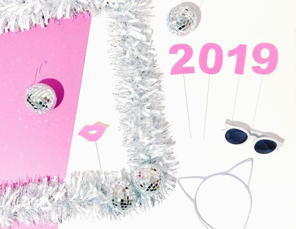 New years photo prop frame