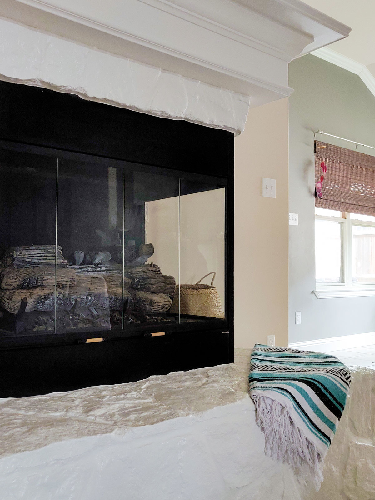 Artfuldays before after fireplace