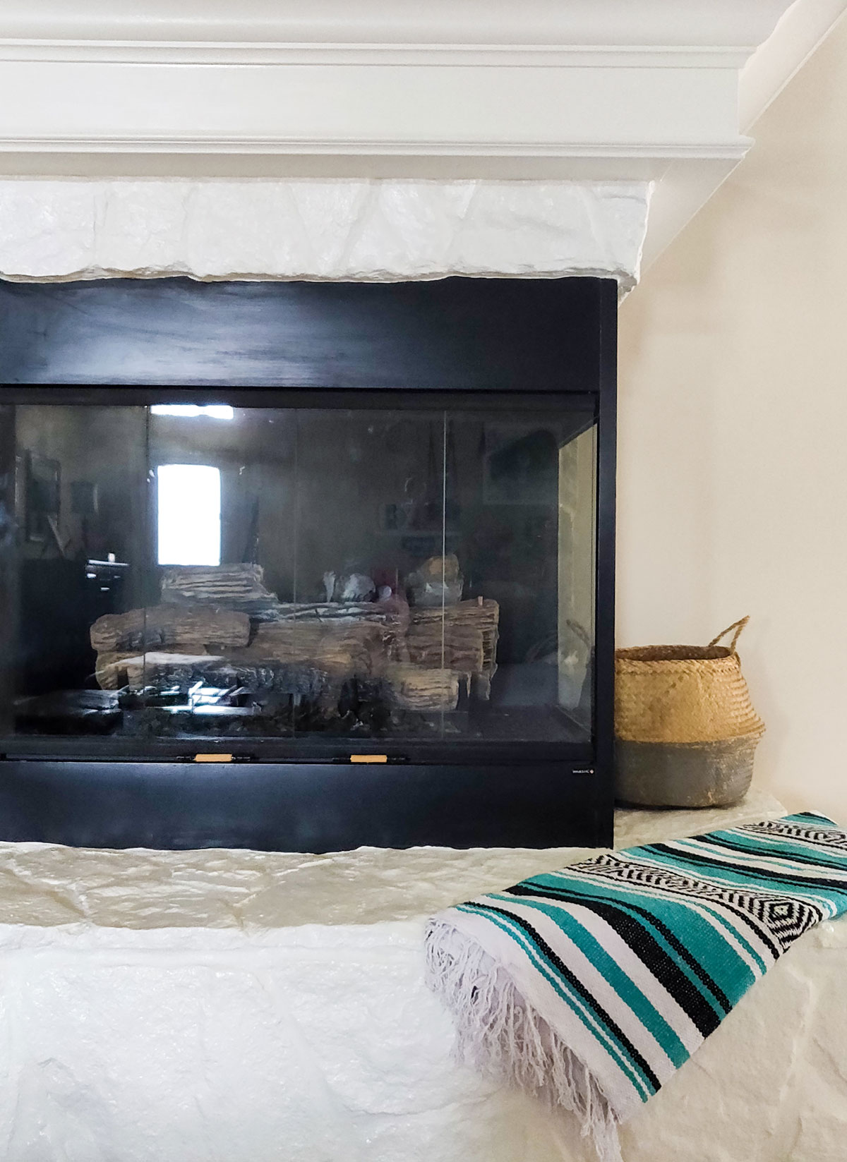 Artfuldays paint fireplace diy