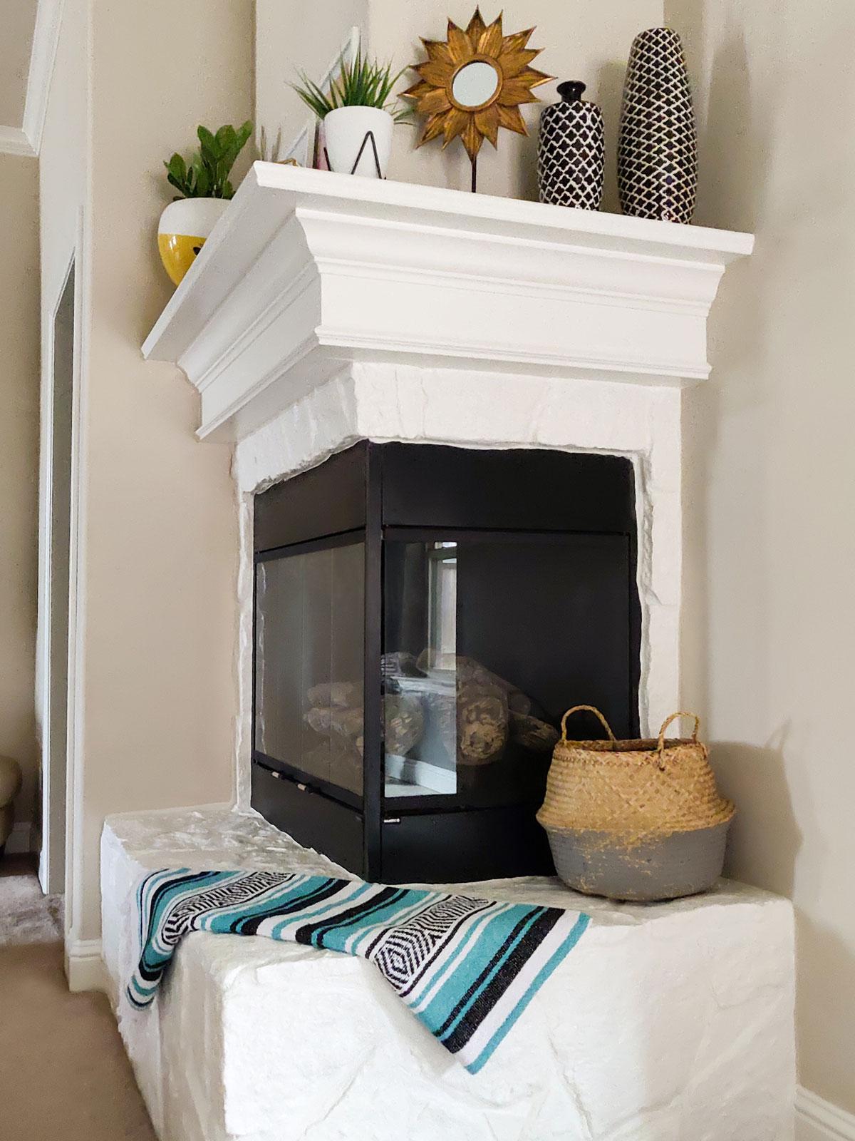 Fireplace makeover artfuldays