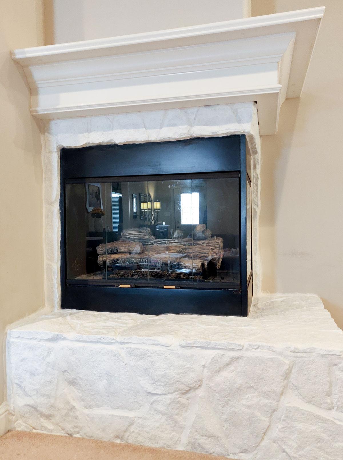 Primer artfuldays paint stone fireplace
