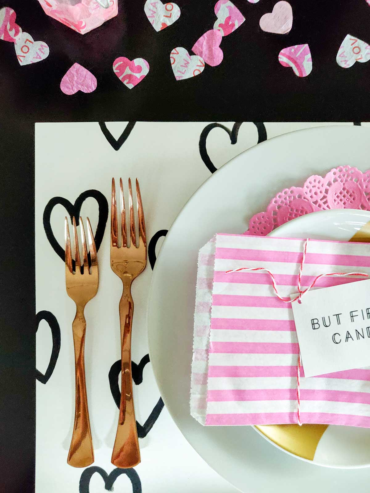 Artfuldays valentine placemat diy