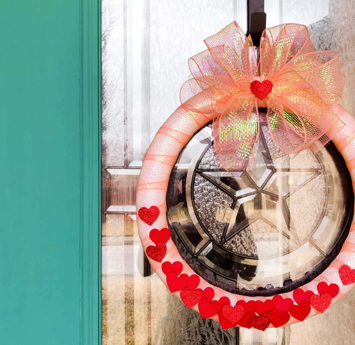 Valentine door wreath artfuldays