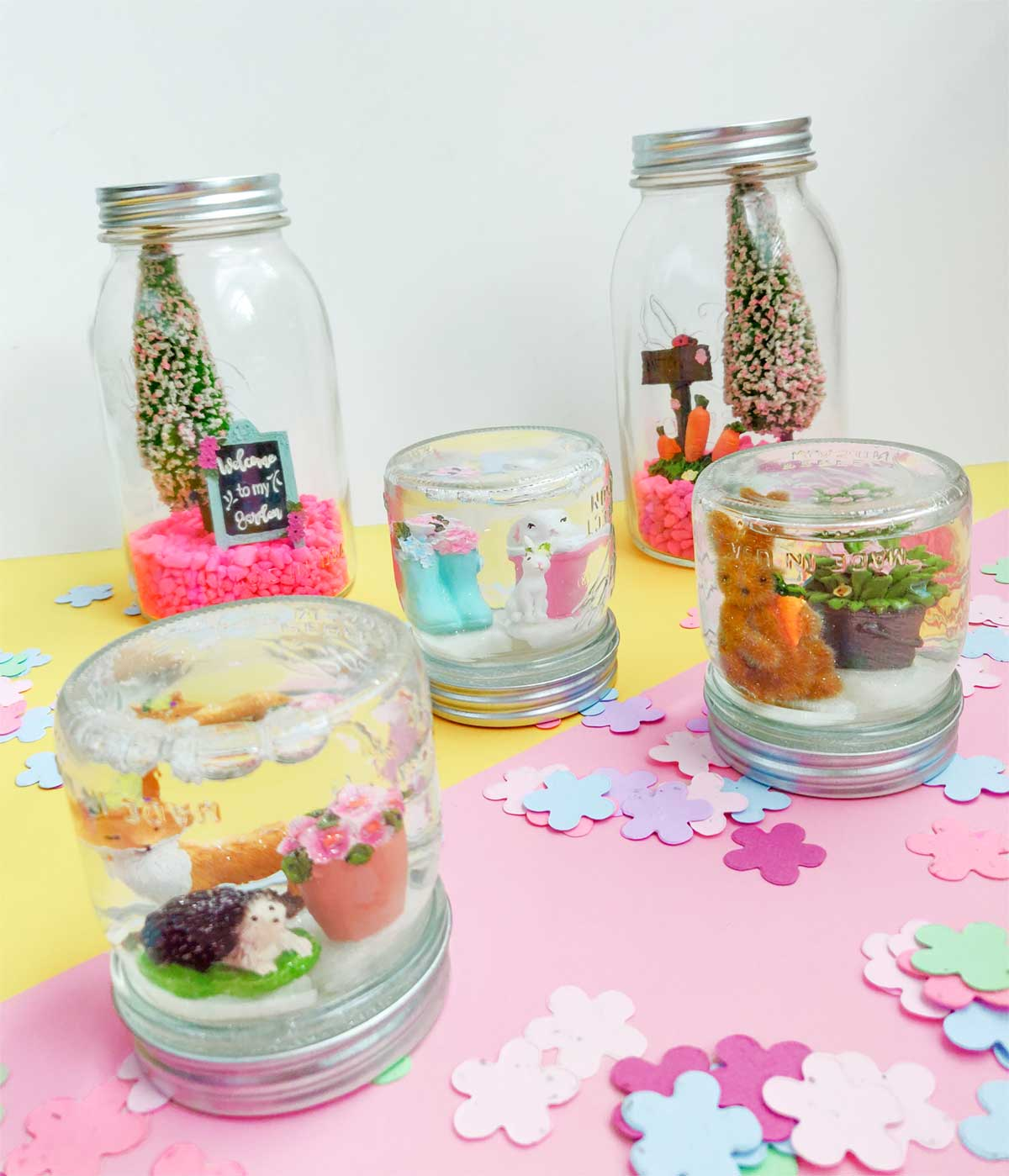 Artfuldays ball diy canning snow globes