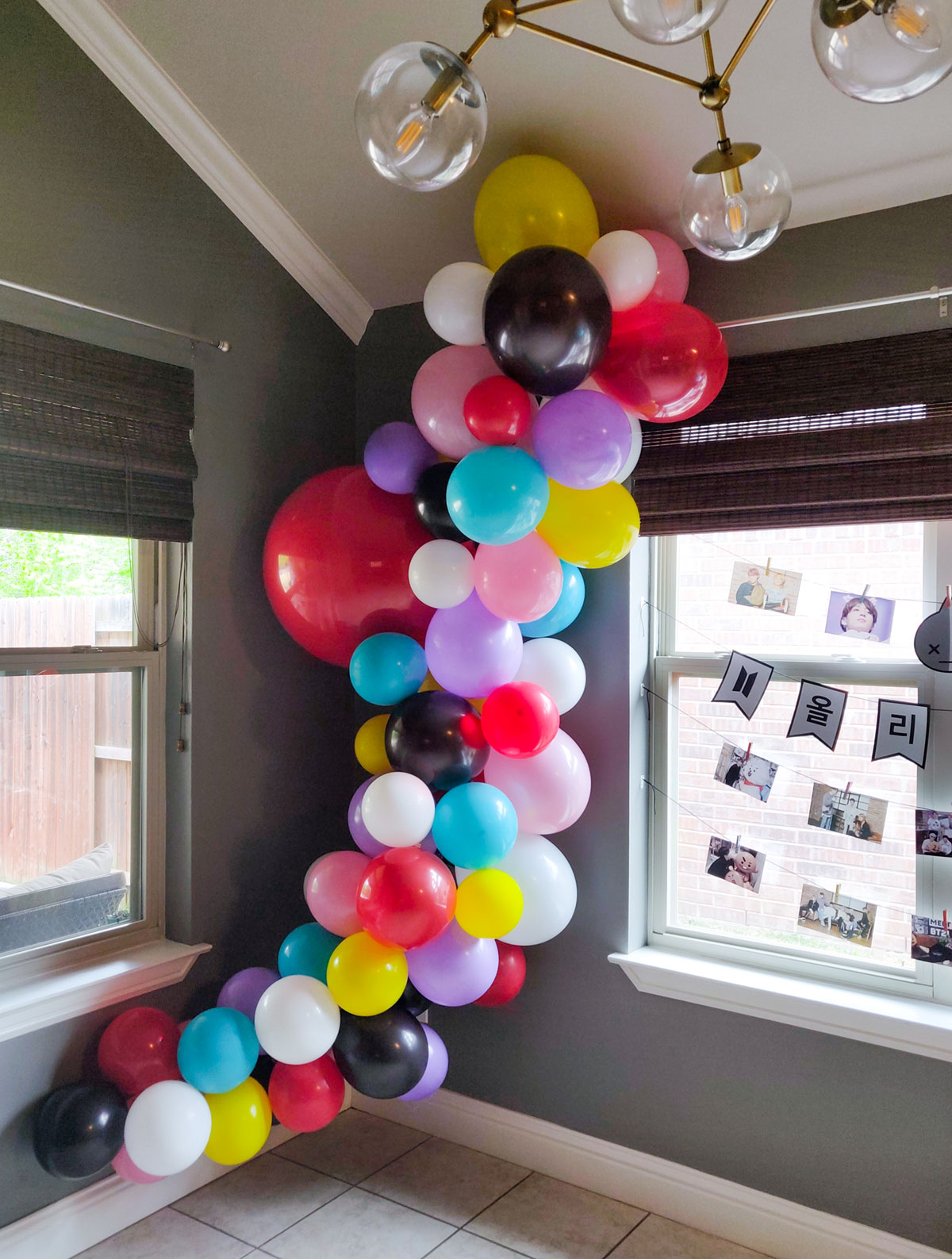 Artfuldays diy balloon garland bt21