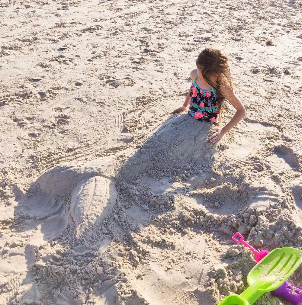 Corpus christi beach mermaid