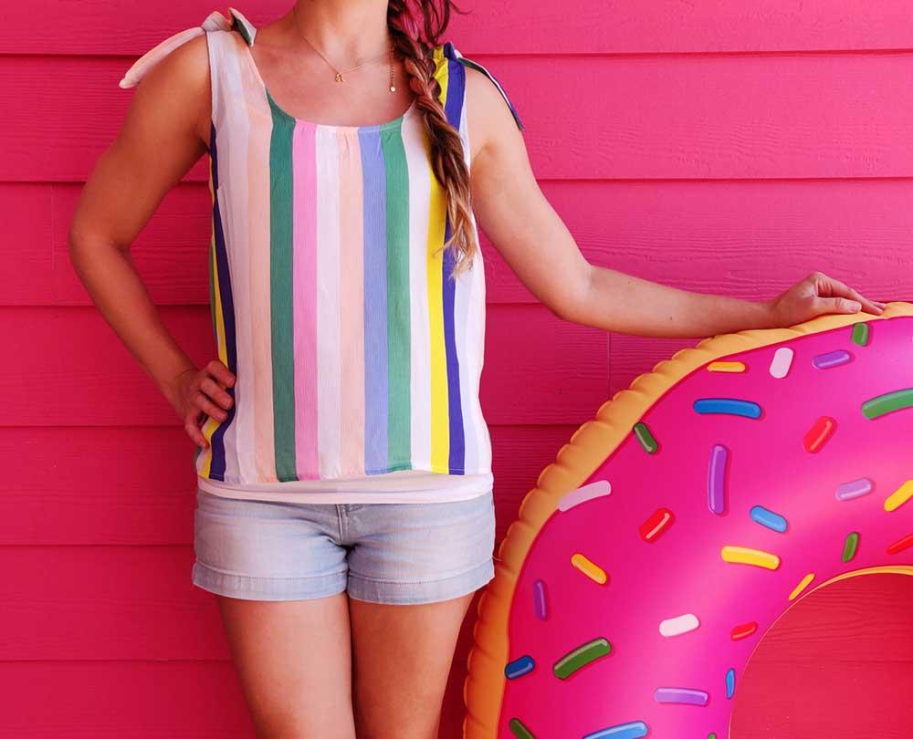 Flamingo cabana donut