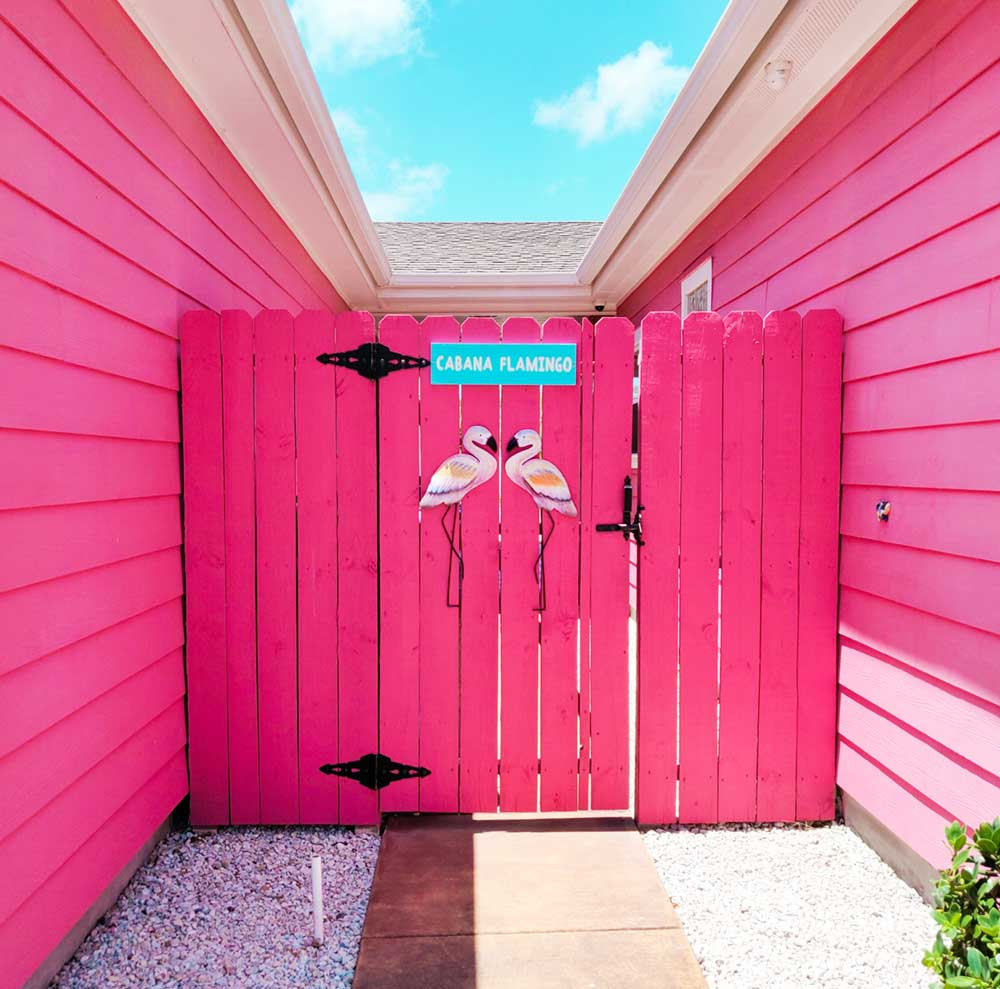 Flamingo cabana pink house