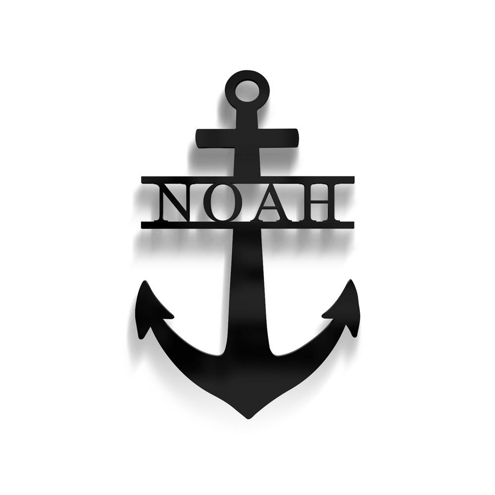 anchor monogram nursery decor